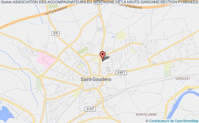 plan association Association Des Accompagnateurs En Montagne De La Haute-garonne:section Pyrenees Centrales Du S.n.a.m. Saint-Gaudens