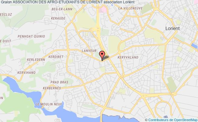plan association Association Des Afro-etudiants De Lorient