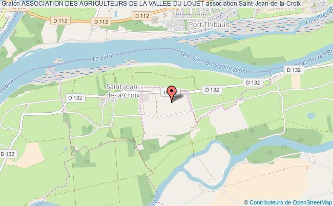 plan association Association Des Agriculteurs De La Vallee Du Louet Saint-Jean-de-la-Croix