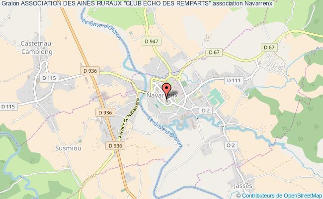 """plan association Association Des Aines Ruraux """"club Echo Des Remparts"""""""