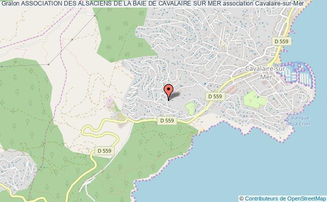 plan association Association Des Alsaciens De La Baie De Cavalaire Sur Mer
