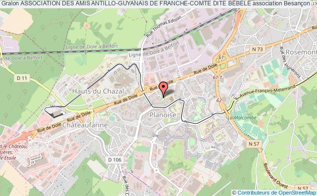 plan association Association Des Amis Antillo-guyanais De Franche-comte Dite BÉbÉlÉ