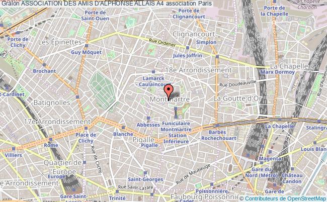 plan association Association Des Amis D'alphonse Allais A4