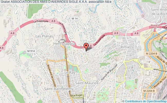 plan association Association Des Amis D'averroes Sigle A.a.a. Nice