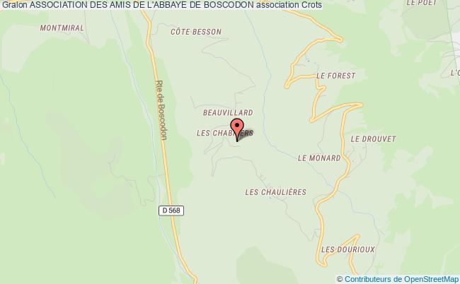 plan association Association Des Amis De L'abbaye De Boscodon
