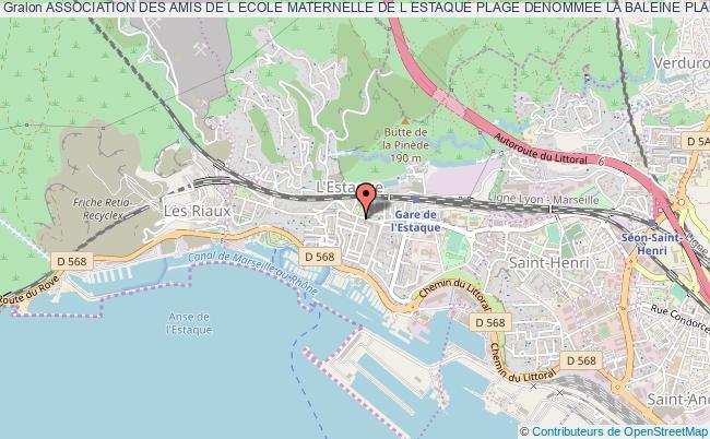 plan association Association Des Amis De L Ecole Maternelle De L Estaque Plage Denommee La Baleine Plage Marseille 16e