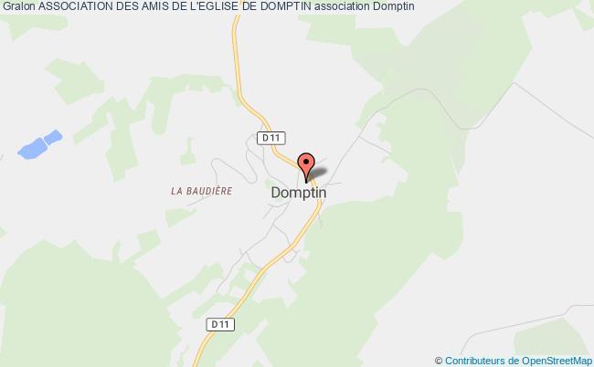 plan association Association Des Amis De L'eglise De Domptin