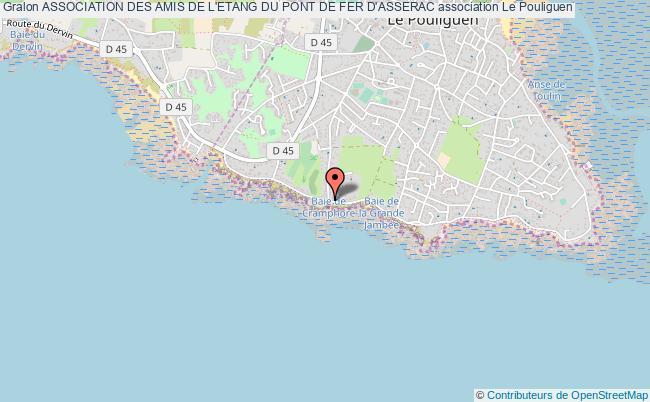 plan association Association Des Amis De L'etang Du Pont De Fer D'asserac