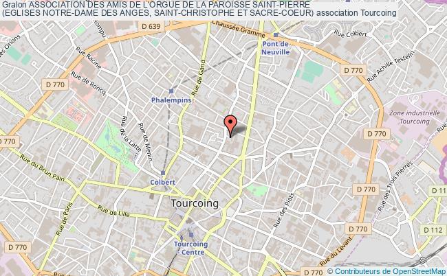 plan association Association Des Amis De L'orgue De La Paroisse Saint-pierre  (eglises Notre-dame Des Anges, Saint-christophe Et Sacre-coeur)