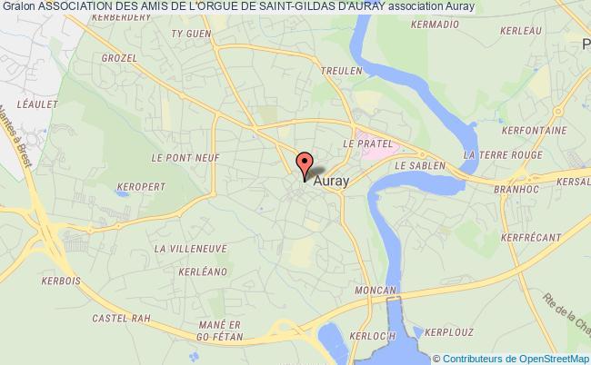 plan association Association Des Amis De L'orgue De Saint-gildas D'auray Auray