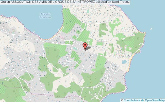 plan association Association Des Amis De L'orgue De Saint-tropez