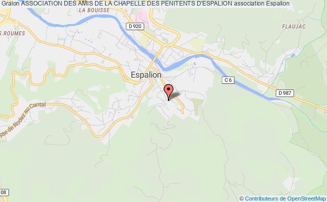 plan association Association Des Amis De La Chapelle Des Penitents D'espalion