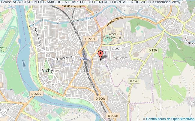 plan association Association Des Amis De La Chapelle Du Centre Hospitalier De Vichy