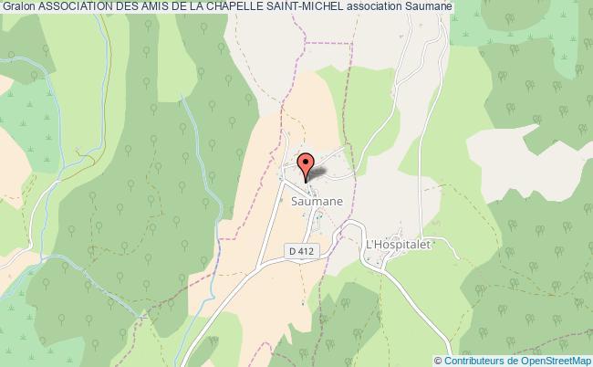 plan association Association Des Amis De La Chapelle Saint-michel Saumane