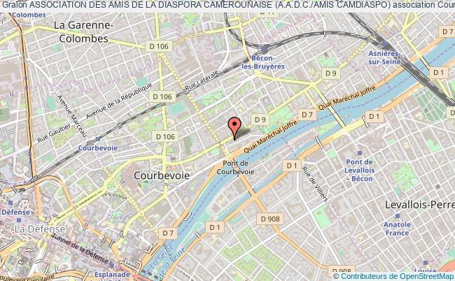 plan association Association Des Amis De La Diaspora Camerounaise (a.a.d.c./amis Camdiaspo) Courbevoie