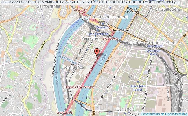 plan association Association Des Amis De La Societe Academique D'architecture De Lyon