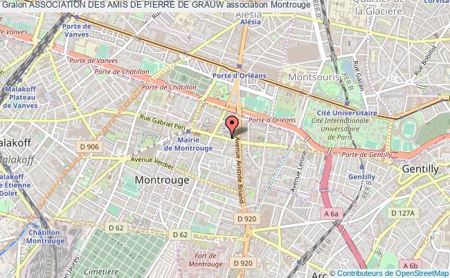 plan association Association Des Amis De Pierre De Grauw Montrouge