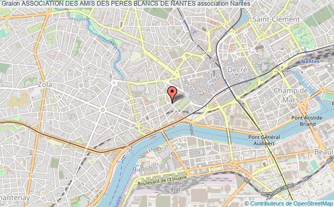 plan association Association Des Amis Des Peres Blancs De Nantes