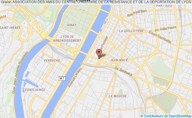 plan association Association Des Amis Du Centre D'histoire De La Resistance Et De La Deportation De Lyon