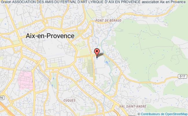 plan association Association Des Amis Du Festival D'art Lyrique D' Aix En Provence