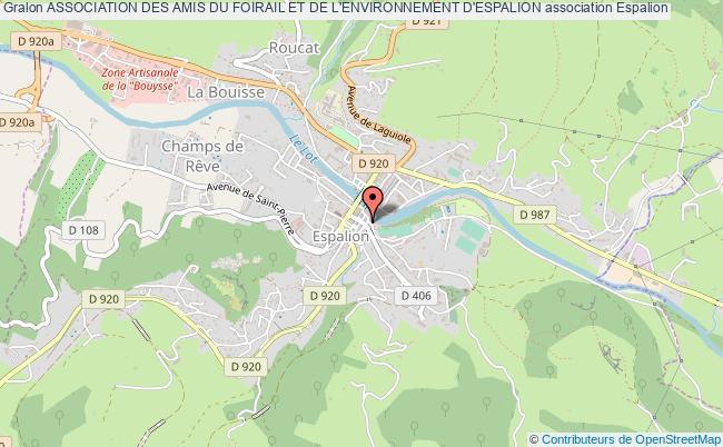 plan association Association Des Amis Du Foirail Et De L'environnement D'espalion