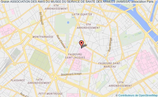 plan association Association Des Amis Du Musee Du Service De Sante Des Armees (aamssa)