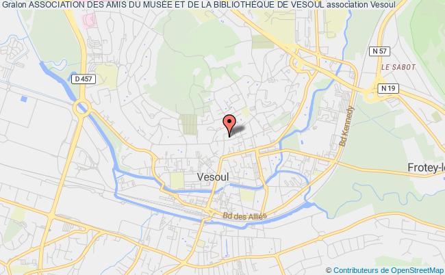plan association Association Des Amis Du MusÉe Et De La BibliothÈque De Vesoul Vesoul