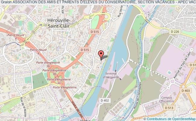 plan association Association Des Amis Et Parents D'eleves Du Conservatoire, Section Vacances - Apec Vacances