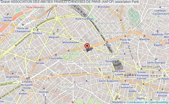 plan association Association Des Amities Franco-chinoises De Paris (aafcp) Paris