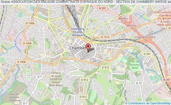 plan association Association Des Anciens Combattants D Afrique Du Nord - Section De Chambery Savoie