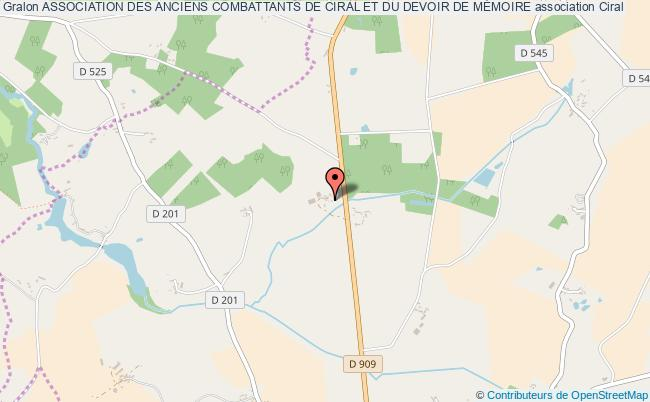 plan association Association Des Anciens Combattants De Ciral Et Du Devoir De MÉmoire Ciral