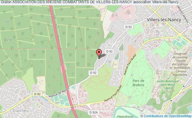 plan association Association Des Anciens Combattants De Villers-les-nancy