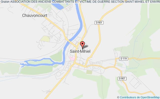 plan association Association Des Anciens Combattants Et Victime De Guerre Section Saint Mihiel Et Environs