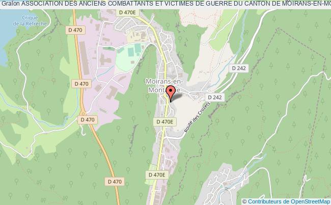 plan association Association Des Anciens Combattants Et Victimes De Guerre Du Canton De Moirans-en-montagne