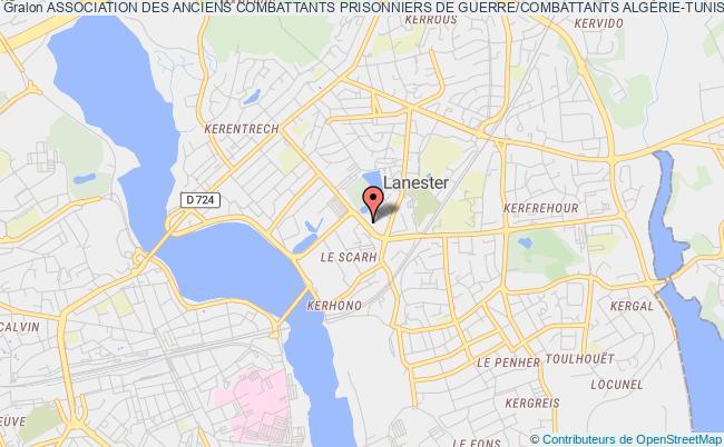 plan association Association Des Anciens Combattants Prisonniers De Guerre/combattants AlgÉrie-tunisie-maroc/territoires Des OpÉrations ExtÉrieures Et Veuves De Lanester