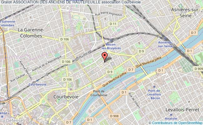 plan association Association Des Anciens De Hautefeuille Courbevoie