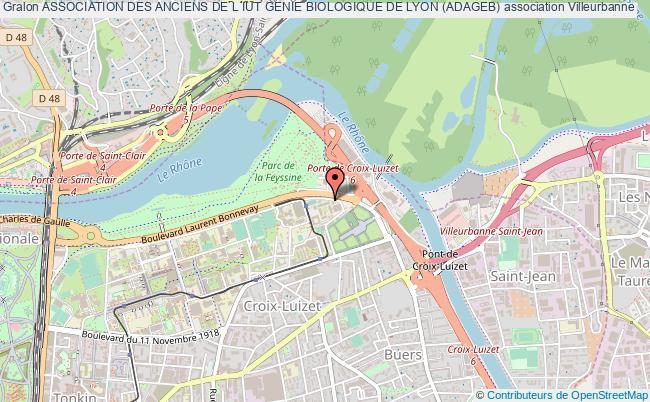 plan association Association Des Anciens De L Iut Genie Biologique De Lyon (adageb)