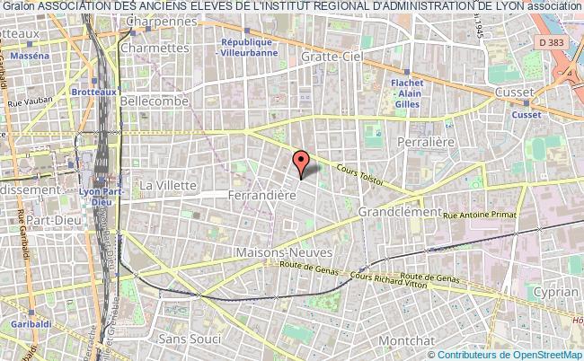 plan association Association Des Anciens Eleves De L'institut Regional D'administration De Lyon Villeurbanne