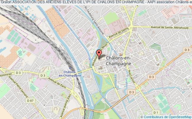 plan association Association Des Anciens Eleves De L'ipi De Chalons En Champagne - Aapi
