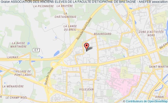 plan association Association Des Anciens Eleves De La Faculte D'etiopathie De Bretagne - Aaefeb Rennes