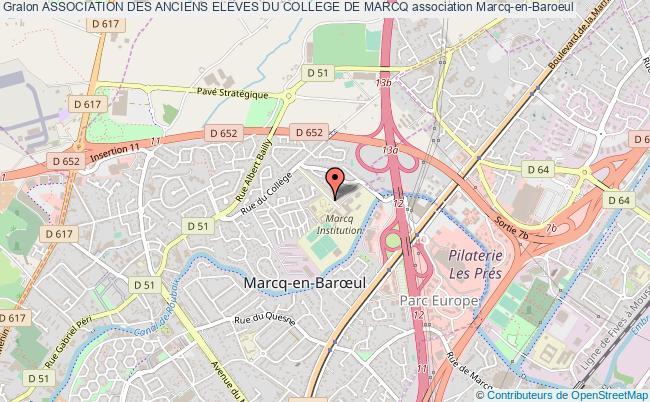 plan association Association Des Anciens Eleves Du College De Marcq