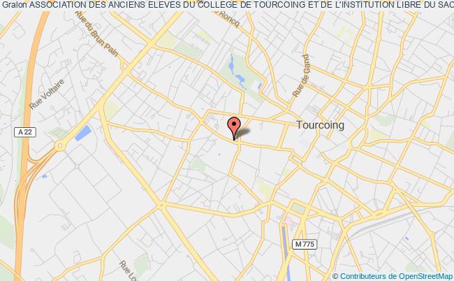 plan association Association Des Anciens Eleves Du College De Tourcoing Et De L'institution Libre Du Sacre Coeur
