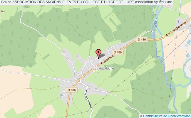 plan association Association Des Anciens ÉlÈves Du CollÈge Et LycÉe De Lure