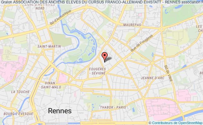 plan association Association Des Anciens Eleves Du Cursus Franco-allemand Eihstatt - Rennes Rennes