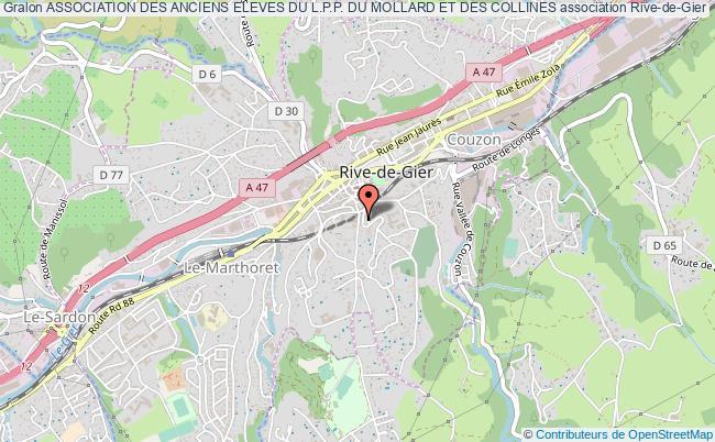 plan association Association Des Anciens Eleves Du L.p.p. Du Mollard Et Des Collines Rive-de-Gier