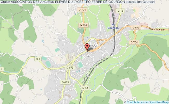 plan association Association Des Anciens Eleves Du Lycee Leo Ferre De Gourdon
