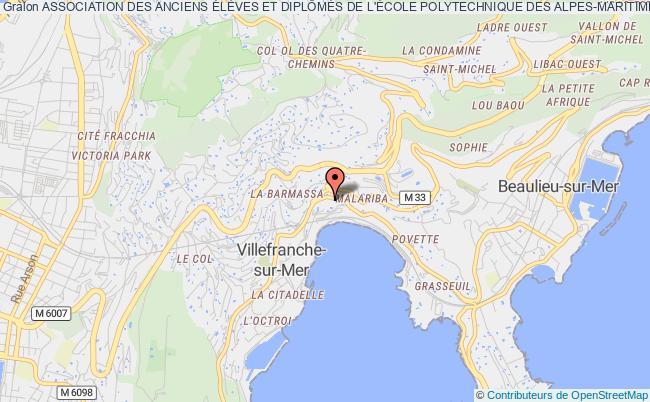 plan association Association Des Anciens ÉlÈves Et DiplÔmÉs De L'École Polytechnique Des Alpes-maritimes