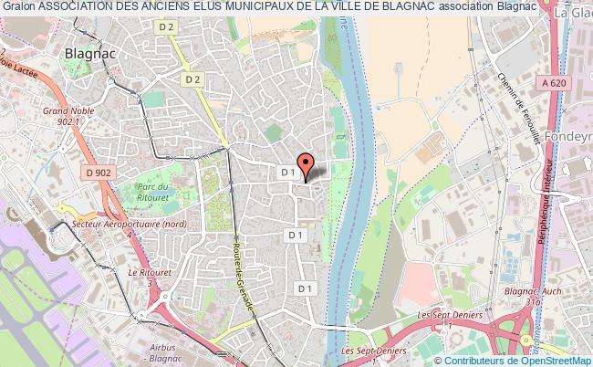 plan association Association Des Anciens Elus Municipaux De La Ville De Blagnac