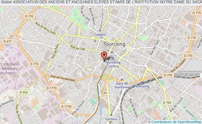plan association Association Des Anciens Et Anciennes Eleves Et Amis De L'institution Notre Dame Du Sacre Coeur Et Notre Dame Immaculee Tourcoing