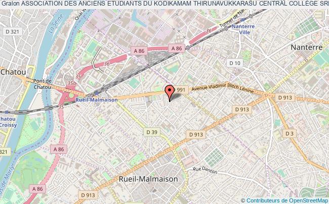 plan association Association Des Anciens Etudiants Du Kodikamam Thirunavukkarasu Central CollÈge Srilanka En France (a.k.t.c.c.f.)